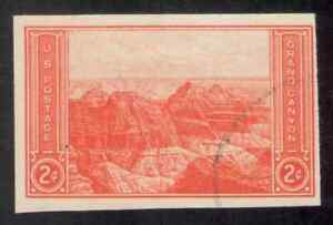 US. 757. 2c. View of Grand Canyon, AZ, National Parks Year. Imperf. Used 1935