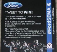 """2012 Octane Academy Ford """"Tweet To Win"""" SEMA handout Block Foust Gittin Deegan"""