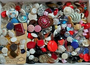 Vintage Glass Buttons 2 Lbs