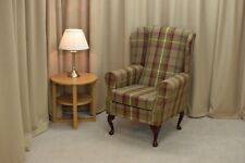 Wing Back Fireside Armchair in a Balmoral Heather Fabric - NEW!