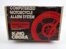 Harley Davidson Computerized Motorcycle Alarm System King Cobra