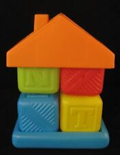 Orange and Blue Plastic Block House Stacking Toy
