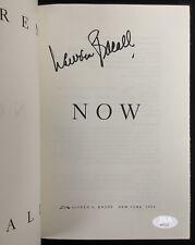 Lauren Bacall Signed Book Now Hcb Key Largo Big Sleep Actress Shootist Auto Jsa