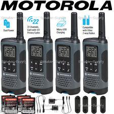 Motorola Talkabout T200 Walkie Talkie 4 Pack Set 20 Mile Two Way Radio Package