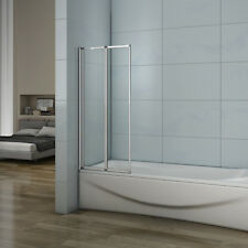 800x1400mm New 2 Fold Pivot Folding Shower Screen Glass Bathroom Door Panel&Seal