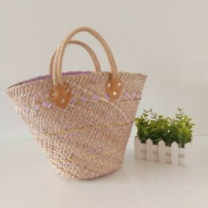 New Straw Handbag Handmade Totes Beach Summer Fashion Bag Wicker Bali Bohemian
