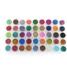 45 Mixed Colors UV Gel Shiny Metal Glitter Powder Dust Nail Art Tips Stamp Kit