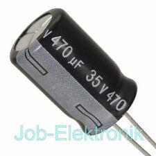 10x Elko Kondensator radial 470µF 35V 125°C ; RK-35V471QI5WGY-T70 ; 470uF