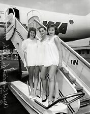 TWA Fuzzy Pink Nightgown Beauty Contest, 1957 8 x 10 Photograph