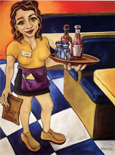"""Will Rafuse """"Breakfast at lucy's"""" Fine Art Reproduction"""