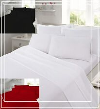 40cm Deep Thermal Flannelette 100% Brushed Cotton Fitted Flat Sheet Bedding Sets