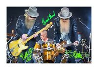 ZZ Top (2) A4 signed photograph picture poster. Choice of frame.