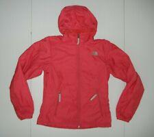 THE NORTH FACE Bright Pink Nylon FLEECE LINED JACKET Warm Rain Coat Sz Women XS