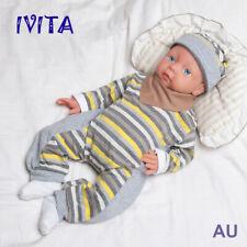 IVITA 20'' Full Body Silicone Reborn Baby Girl Blue Eyes Lifelike Infant Doll