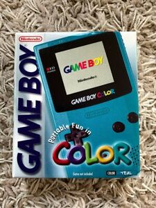BRAND NEW SEALED Nintendo Game Boy Gameboy Color Console 1999 (TEAL) EXCELLENT!