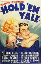 HOLD 'EM YALE Movie POSTER 27x40 Patricia Ellis Cesar Romero Buster Crabbe
