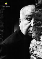 Apple Poster THINK DIFFERENT 1998 - Alfred Hitchcock - DIN A1 84,1 cm x 59,4 cm
