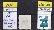 Deutschland 696 - 1971 - 700 RA - Unfall - Einzelmarke - Schwarze Nr. - Postfr.