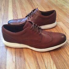 $150 NEW Cole Haan Original Grand Cognac Wingtip Oxfords 12 Brown Shoes Lunar
