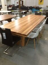 Solid Messmate Dining Table - Timber Pedestal Leg