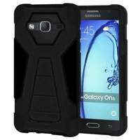 Dual Layer Hybrid Shockproof Rugged Case with Kikstand for Samsung Galaxy On5