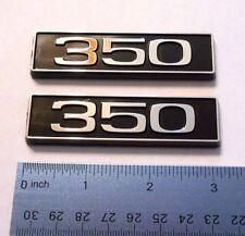 350 black plastic with chrome emblem emblems badge new