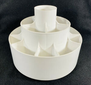 Pampered Chef Tool Turn About Utensil Carousel Caddy Holder #2170 White