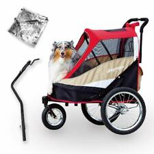 Ibiyaya 2-in-1 Dog Stroller and Bike Pet Trailer for Medium and Large Dogs