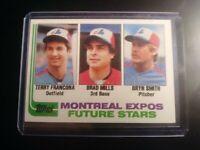 1982 TOPPS Montreal Expos Future Stars Terry Francona Mills Smith Rookie RC NtMt