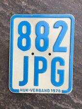 Moped - Kennzeichen, Nummernschild von 1976, Kreidler, DKW, Zündapp etc.