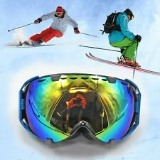 Adults Professional Spherical Anti Fog Dual Lens Snowboard Ski Snow GOGGLES BLUE