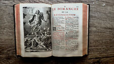 PRINTED 1692 FRENCH LATIN BOOK ROMAN BREVIARY BOOK OF HOURS RED & BLACK SCRIPT