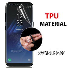 TPU Curved Full Coverage Screen Protector Film Cover For Samsung Galaxy S8