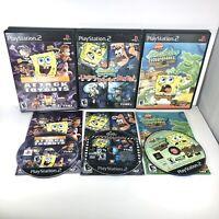 PS2 Lot of 3 Complete SpongeBob Squarepants Games PlayStation 2 Nickelodeon CIB