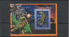 Palau 2012 MNH Lizards of Palau 1v S/S II White-line Geckos Lizard Monitor