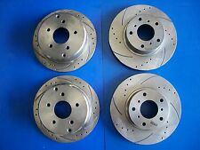 Full Set Disc Rotors Drilled & Slotted for Holden Commodore FOR  VT VX VU VY VZ