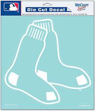 "Boston Red Sox 8""x8"" White Auto Decal [NEW] MLB Car Emblem Sticker CDG"