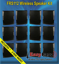 BRG EasyPage Wireless FRS Band Paging Speaker Kit - 12 Spkrs & Free 2 Way Radio
