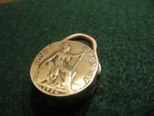 HANDCRAFTED GREAT BRITAIN OLD HALFPENNY  COPPER COIN SNUFF BOX KEYCHAIN