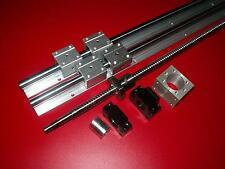 SBR20-1000mm linear 2 rail+RM2005 ball screw+1set BKBF15 bearing+nut housing CNC