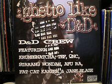 """D&D CREW - GHETTO LIKE (12"""")  1999!!  RARE!!!  TEFLON + STARANG + AFU-RA+ QNC!!!"""