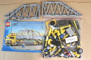 LEGO 7900 CITY HEAVY LOADER TRUCK with BRIDGE GIRDER LOAD SET