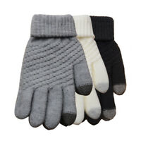 Women Fashion Cashmere Touch Screen Full Finger Gloves Warm Windproof Mittens