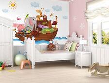 Papel Pintado Mural De Pared-Para El Dormitorio De Niños-Animales Noah's Ark Grande -