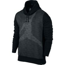MEN'S NIKE AIR JORDAN JUMPMAN BRUSHED GRAPHIC HOODIE BLACK 834369-010 LARGE