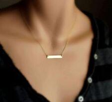 Women Gold Horizontal Stick Noble Simple Bar Bone Pendant Necklace Jewelry gift