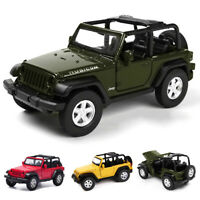 Jeep Wrangler Rubicon 1:32 Scale Car Model Diecast Gift Toy Vehicle Pull Back