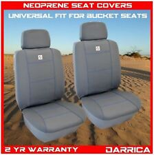Neoprene Car Seat Covers Universal Fit Front Pair Wet Waterproof Grey and Blue