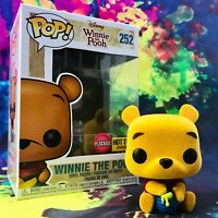 Flocked Winnie the Pooh Hot Topic Exclusive Disney Winnie the Pooh Funko POP!