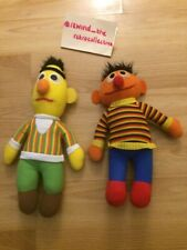 Vintage Knickerbocker Bert and Ernie (Seasame Street) Dolls Plush 10""
